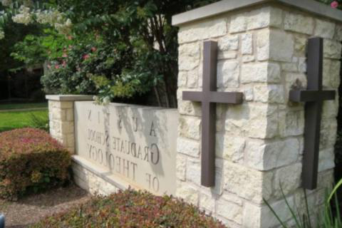Austin 毕业 School of Theology sign