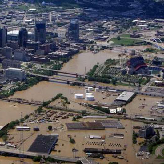 A view of Nashville during the 2010 flood